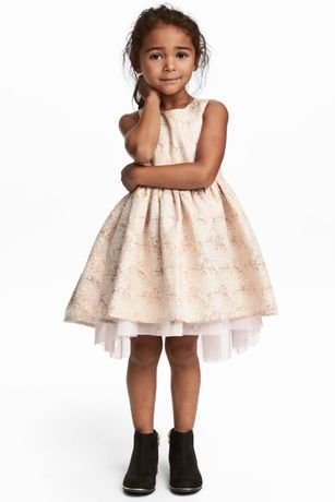 Красивое нарядное платье H&M с нежным фатином и пышной юбкой