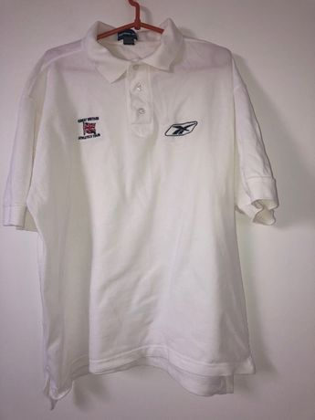 Biała koszulka polo Reebok
