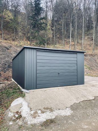 Garaż 4x6 grafit garaże blaszane na Wymiar