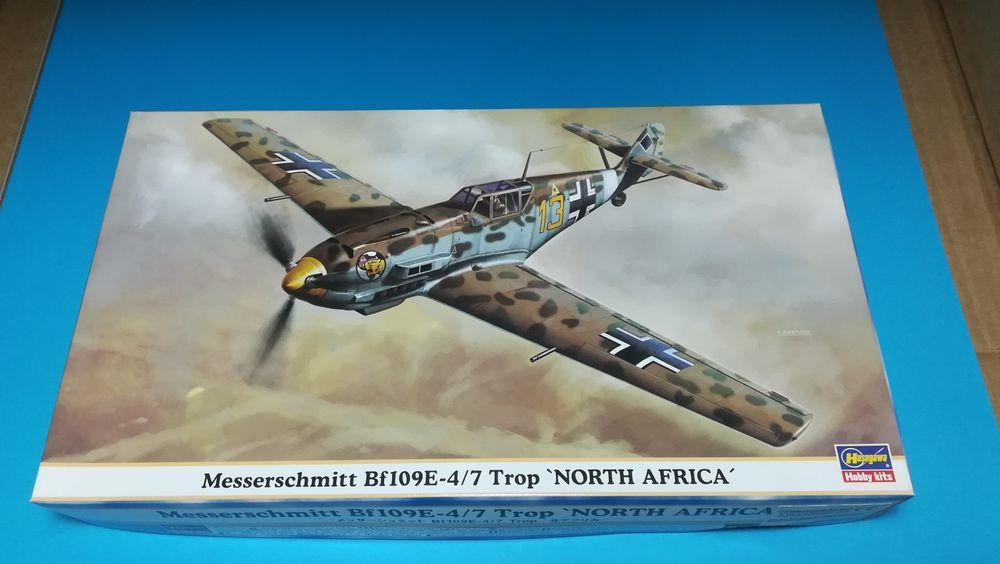 """1/48 Messerschmitt Bf109 E-4/7 Trop """"North Africa"""" Vila de São Sebastião - imagem 1"""