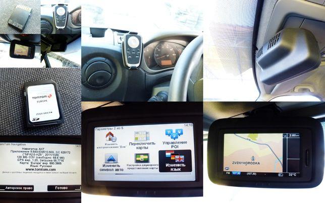 Renault Master 3 GPS навигатор заводская комплектация Tom tom LIVE SD