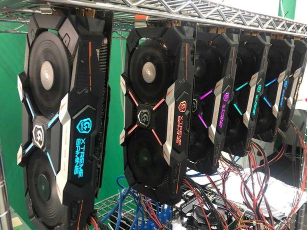 Ферма 147.5 MH/s, 6 x Geforce GTX 1060 6GB видеокарта майнинг