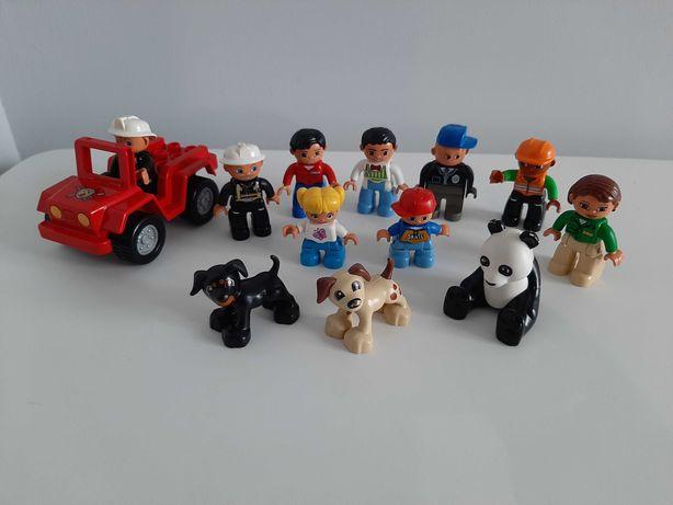Lego Duplo zestaw ludzików i zwierząt