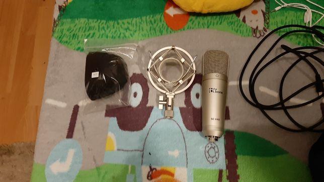 Mikrofon pojemnościowy T.bone sc 440 + pop filtr