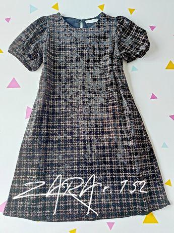 Nowa sukienka Zara r. 152 czarno złota
