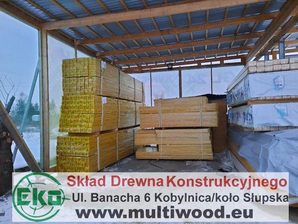 Skład Drewno konstrukcyjne krokwie Kvh c24 łaty, więźba,palisada