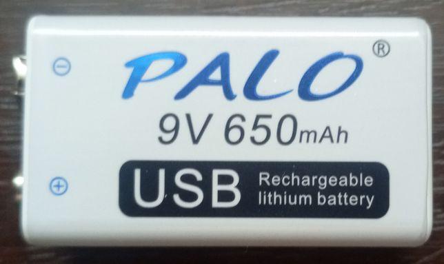 Аккумулятор Palo 6F22 Крона 650 mAh USB
