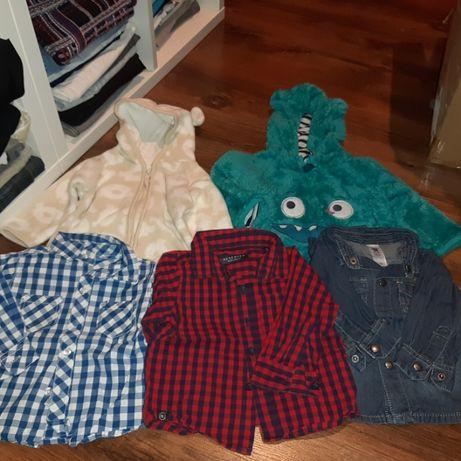 Spodnie, bluzy, koszule 68