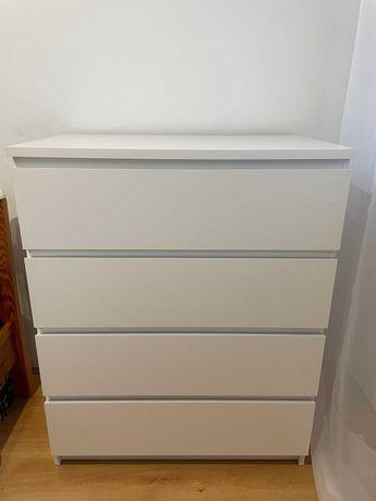 Komoda Szafka IKEA MALM 100x80x48cm biała z czterema szufladami