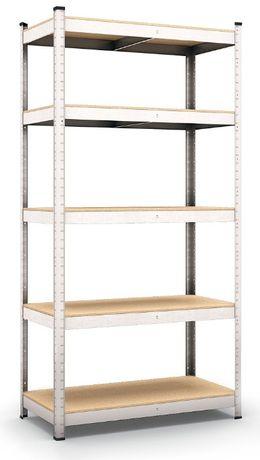 Regał metalowy magazynowy do garażu piwnicy 200x100x50cm 5 półek 875kg