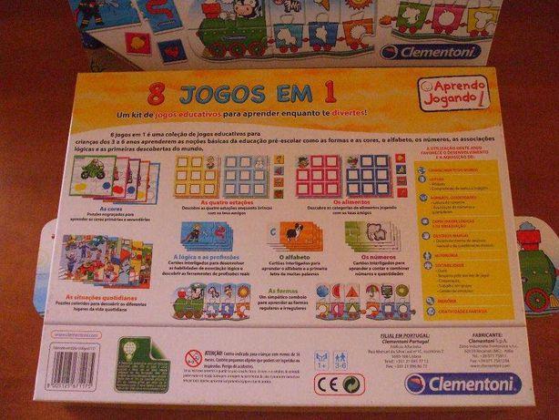 Kit de jogos educativos para crianças dos 3 aos 6 anos - Clementoni