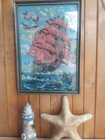 Картина бисером талисман Алые паруса