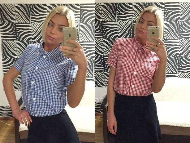 Рубашка блузка клетка