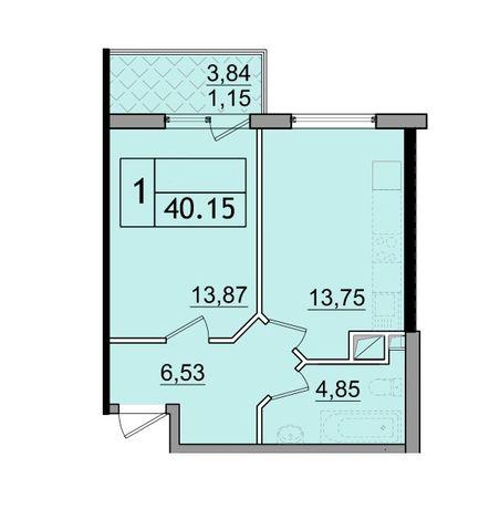 В продаже 1-но комнатная квартира в 59 Жемчужине на Сахарова