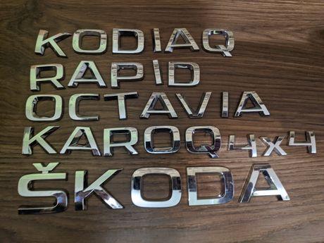 Букви Skoda, модели шкода, надписи на машину шкода, 4x4, rapid octavia