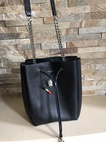 Шикарная кожаная сумка yves saint laurent оригинал номерная