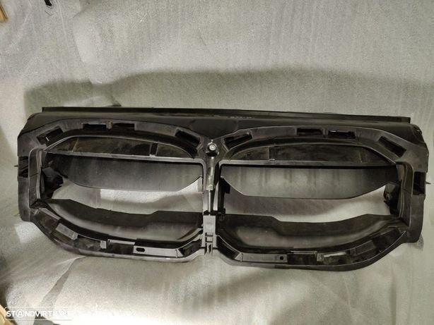 Conduta de ar com comando portinholas superior BMW Serie 1 F40 suporte grelha cromada 9448484