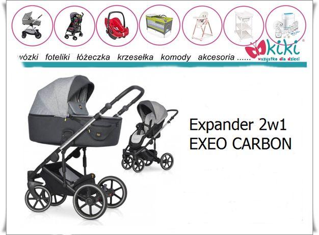 EXPANDER Exeo Carbon wózek wielofunkcyjny 2w1 spacerówka gondola