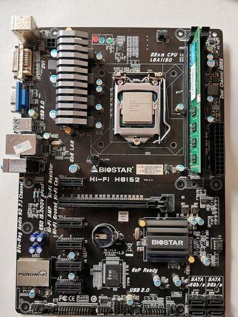 Bundle Motherboard Biostar 6 gpus - Mining