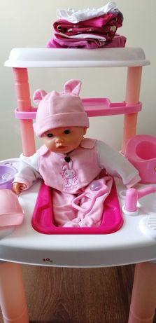 Wanienka z lalką, fotelik, zestaw do kąpieli, ciuszki dla lalki