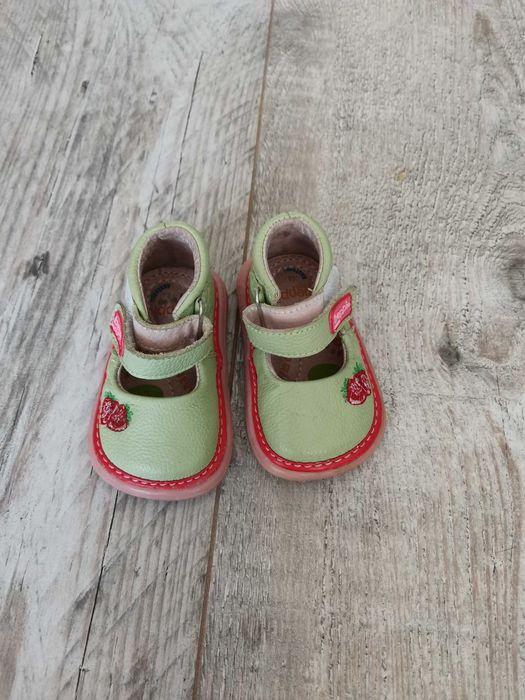 Śliczne buciki skórzane Bebbi Kids, stan idealny Szczecin - image 1