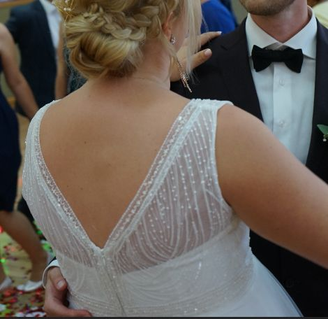 Suknia ślubna ecru 177cm