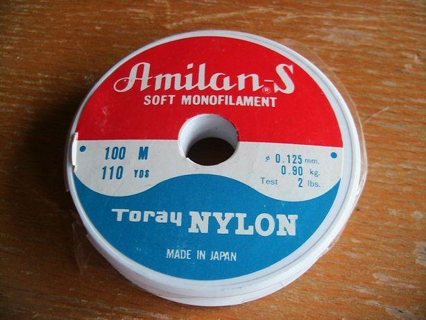 Леска нейлоновая диаметр 0,125 мм, длина 100 м. Япония