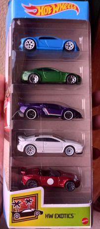 Pack de 5 miniaturas hot wheels