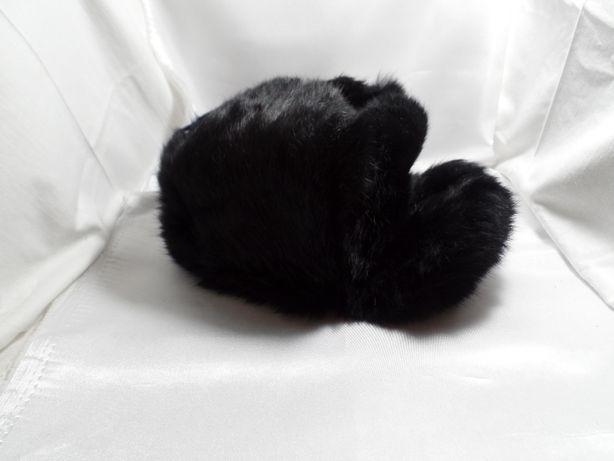 Шапка детская зимняя меховая ушанка кролик