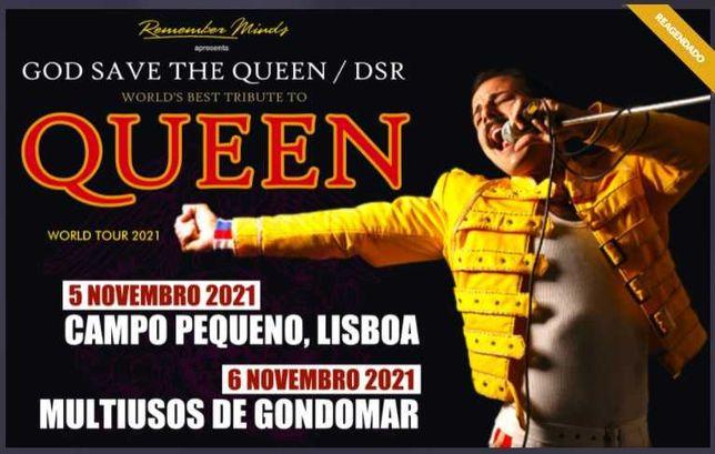 Bilhetes QUEEN- God Save the Queen