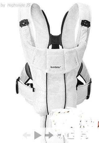 Рюкзак кенгуру Babybjorn Active White (Air Mesh)
