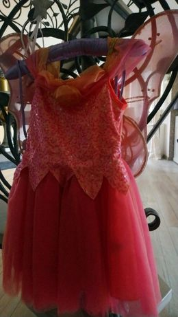 Strój na bal przebierańców dla dziewczynki - wróżka, dzwoneczek.