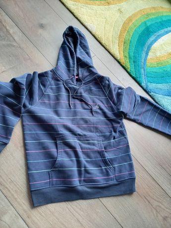 Bluza granatowa z kapturem szara Esprit rozpinana s m