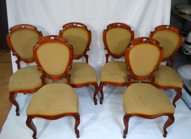 Krzesła tapicerowane 6 szt. /Meble Stylowe Grodzisk Mazowiecki