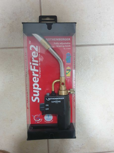 Rothenberger superfire2 як Bernzomatic газовая горелка