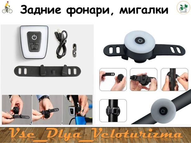 Задний фонарь Donut, мигалка, габарит на велосипед, USB, best!