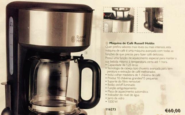 Máquina de café Russell Hobbs NOVA - Super Preço