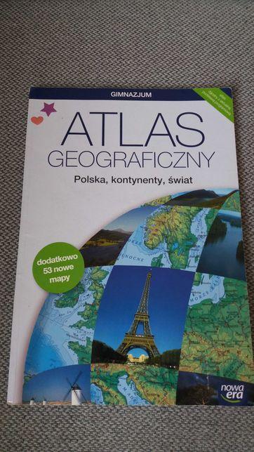 Atlas geograficzny Polska,kontynenty,świat Nowa Era