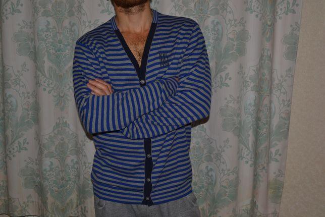 Добротная кофта, мужской кардиган размер - L рост - 180
