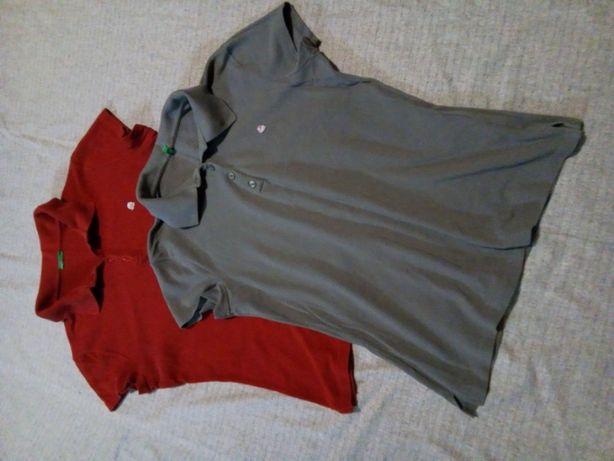 Футболка поло коттон оригинал блуза рубашка серая красная