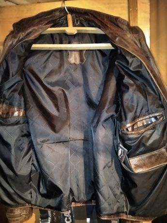 Куртка кожаная, недорогая.