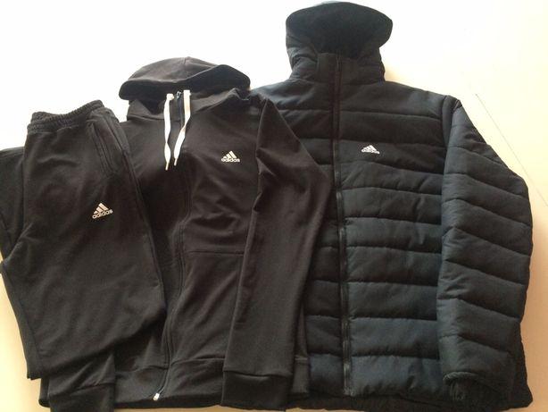 Мужская спортивная зимняя куртка+спортивный костюм мужской.