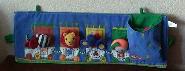 Игрушки-погремушки на липучках на детскую кроватку