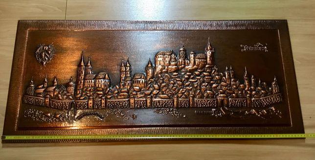 Vista da cidade de Nuremberga em cobre