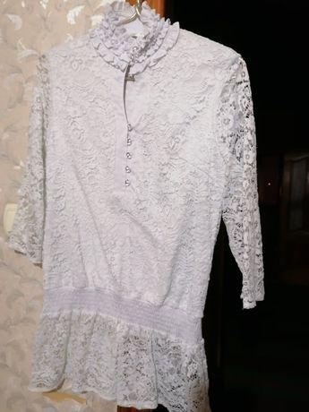 Туника блузка кофта гепюр