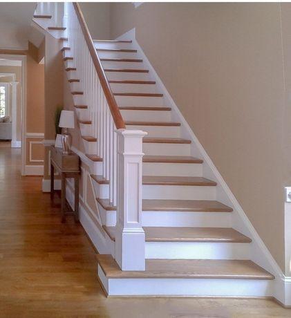 Деревянная лестница производство.