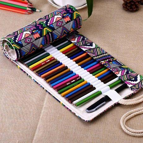 estojo bolsa desenho organizador 48x 72x lapis pinceis canetas pintura