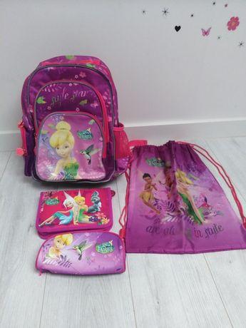 Plecak szkolny  zestaw z piórnikami