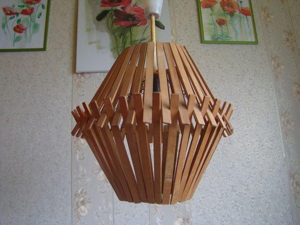 Светильник потолочный деревянный (люстра)