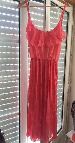 Vestido novo rosa-morango
